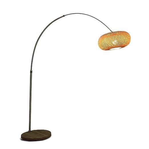 TangMengYun Iluminación del hogar Lámpara de pie de Pesca Zen ...