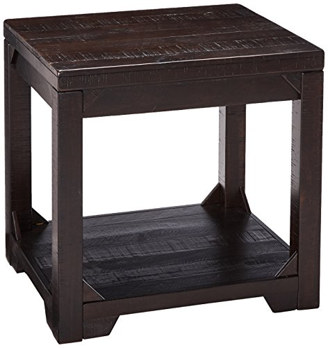 - Ashley Furniture Signature Design - Rogness Rectangular End Table - Rustic - Distressed Brown