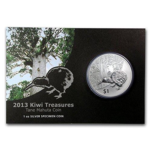 2013-nz-new-zealand-1-oz-silver-treasures-1-kiwi-specimen-1-oz-brilliant-uncirculated