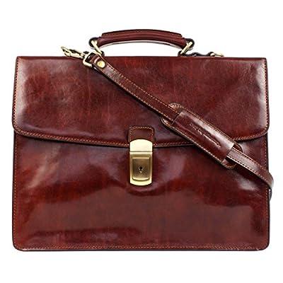 good Leather Briefcase, Leather Laptop Bag, Messenger Bag - Time Resistance