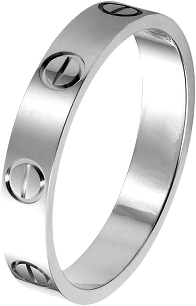 GuiiFan Love Ring Classic Design Jewelry 18K Titanium Steel Best Gifts for Women Men Couples Valentines Day