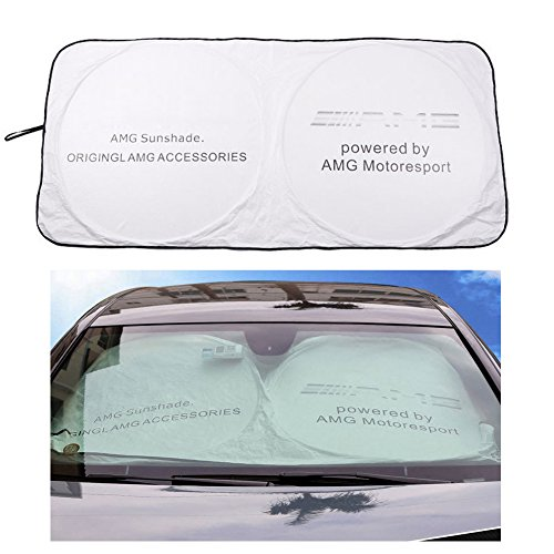 Car Windshield Sun Shade - Blocks UV Rays Sun Visor Protector, Sunshade To Keep Your Vehicle Cool Damage Free,For Mercedes-Benz AMG GLK300 GLA C200L GLC - Ray Benz