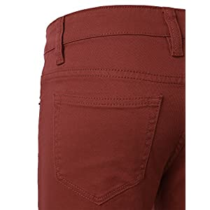 Guytalk Mens Skinny Fit Jeans Cotton Stretch Pants Rust 32/32