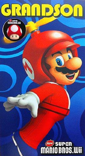 Super Mario Bros Grandson Badge Birthday Card Amazon Toys