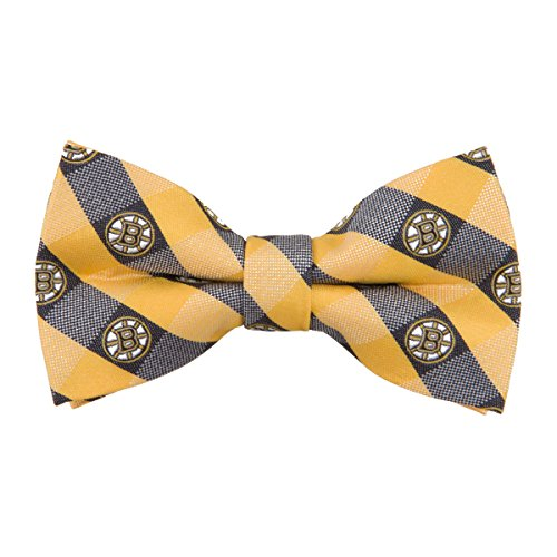Boston Bruins Checked Logo Bow Tie - NHL Hockey Team Logo