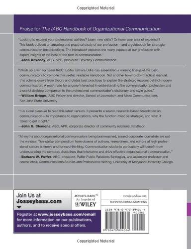The iabc handbook of organizational communication a guide to the iabc handbook of organizational communication a guide to internal communication public relations marketing and leadership tamara gillis fandeluxe Image collections