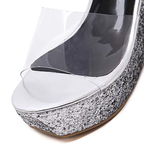 Verano Sheos Plataforma 40 Moda Cuñas 2019 Sandalias Fiesta De Noche Peep Yan Las Lentejuelas Toe Mujeres Zapatillas Zapatos C c Gradiente xYTfnwPq