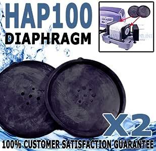 Hailea HAP-100 Aquarium Air Pump Blower Replacement Diaphragm Twin Pack