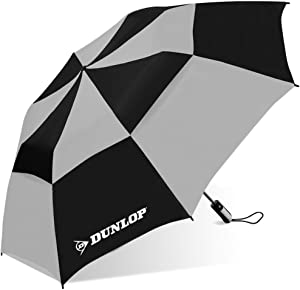 Dunlop Double Canopy Two-Person Umbrella-56dc-dl Blkgry, Black/Gray, 56 IN