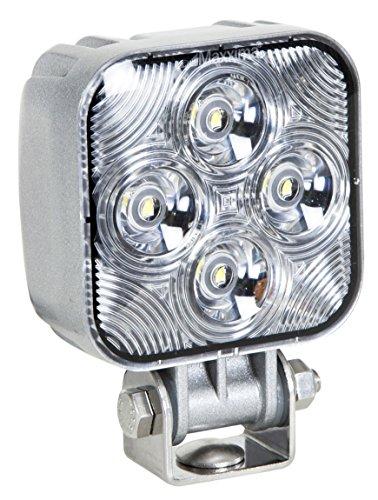 Maxxima MWL-20LS 4 LED Square Mini LED Work Light with Liquid Silver Housing 800 Lumens