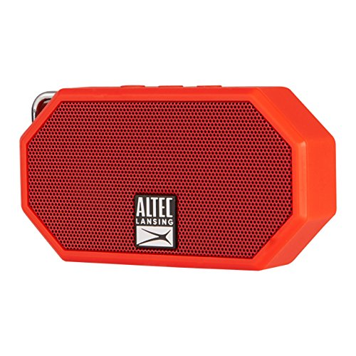 Altec Lansing IMW257 Mini H2O Wireless Bluetooth Waterproof Speaker (Red)