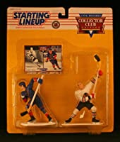 BOBBY HULL / CHICAGO BLACKHAWKS & BRETT HULL / ST. LOUIS BLUES 1996 NHL Exclusive * COLLECTOR CLUB EDITION * Starting Lineup Action Figures & Exclusive Collector Trading Card