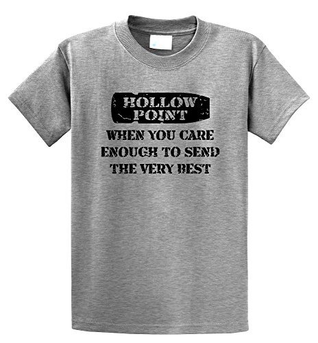 Comical Shirt Men's Hollow Point, When You Care Enough Send Very Best Sport Grey L