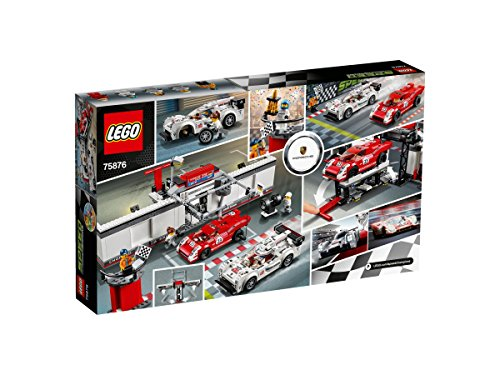Lego Speed Champions Porsche 919 Hybrid and 917K Pit Lane (Classic Style Podium)
