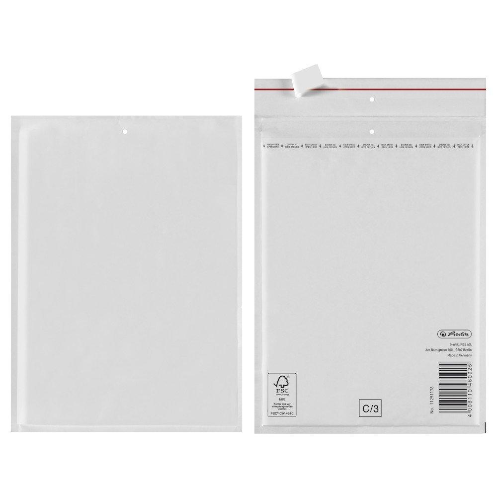 FSC Mix Carta Pellicola interna 100/pezzi 18/x 26/cm PE Herlitz 11291184/aria imbottitura Borsa D//4