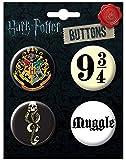 Ata-Boy Harry Potter Favorites Assortment #4 4 Button Set