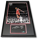 Lebron James Hand Signed Cut Custom Matte Framed with 16x20 Photo UDA xx/50