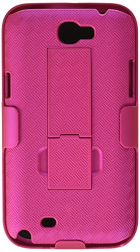 MYBAT SAMGNIIHBHOLSFTTR62NP Shell Holster Combo Case for Samsung Galaxy with Kick-Stand and Belt Clip for Samsung T889/I605/N7100 Galaxy Note II - Retail Packaging - Hot Pink