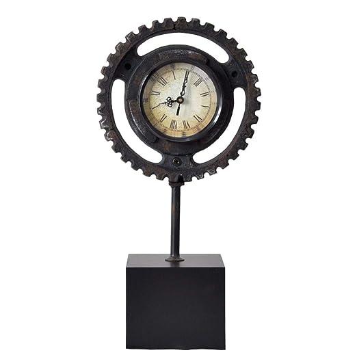 Reloj LWF Escritorio Hierro Forjado Decorativo péndulo metálico ...