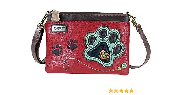 Chala Paw Print Mini Crossbody Handbag Dog Lovers Convertible Straps Dog Mom