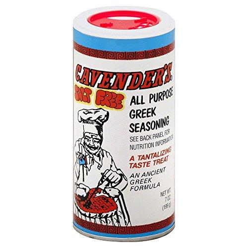 Cavender's Greek Seasoning, Salt Free, 7 Ounce