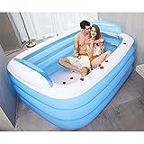 New Double Inflatable Bathtub PVC Layered