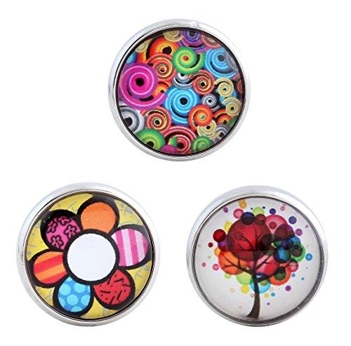 Morella® Click-Button Lot de 3 boutons pression colorés pour femme