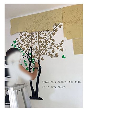 Tree Birds 3D Wall Decals Mirror Wall Stickers Tattoos Wall Decor 79inch Tall (Large 3.5x2.1, Silver) by Sisselyan (Image #2)