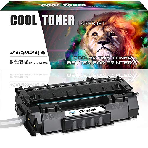 (Cool Toner Compatible Toner Cartridge Replacement for HP 49A Q5949A 49X Q5949X for HP Laserjet 1320 1320N 1320TN 1320NW 3390 P2015 P2015DN 3392 HP Laserjet MFP M2727nfs M2727 Printer (Black, 1 Pack))
