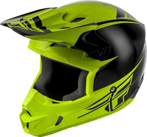 Fly Racing Kinetic Sharp Black/Hi-Vis Offroad Motorcycle Helmet Adult XL