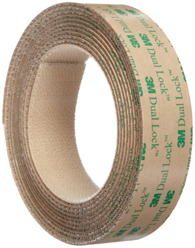 (3M Dual Lock Reclosable Fastener TB4570 Low Profile Clear, 1 in x 10 ft (1 Mated Strip/Bag))