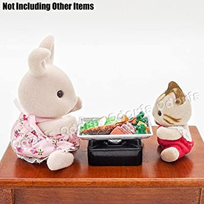 Odoria 1:12 Miniature 5pcs Toaster Oven Pan Tray Dollhouse Kitchen Accessories: Toys & Games