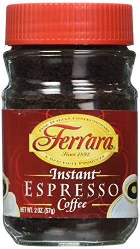 Ferrara Instant Espresso Coffee - Pack of 3 (2 oz each jar)