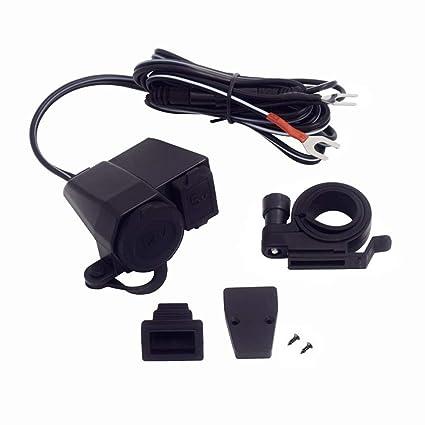 Chikia - Cargador USB impermeable para motocicleta, 10 A ...