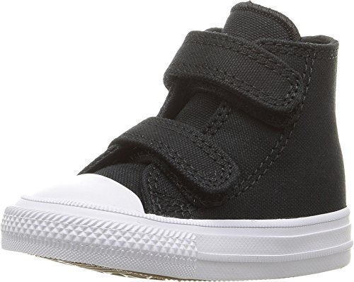 Converse Chuck Taylor All Star Black Hi Top Fashion Sneakers Velcro (9 Toddler M)
