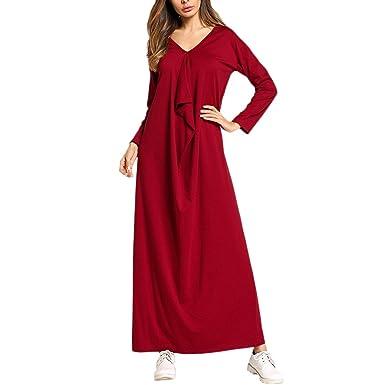 Zhhlinyuan Women Elegant Kaftane Maxikleider Kleid Formelle Lounge