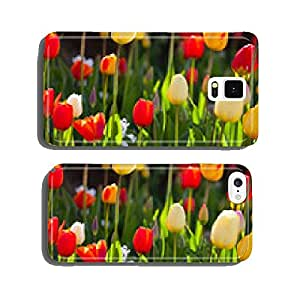 springtime - colorful flower meadow in spring with tulips and Narz cell phone cover case Samsung S5