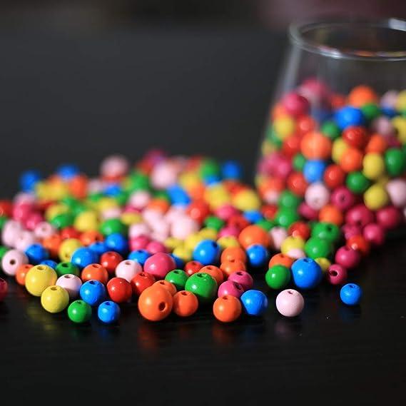 720stk holzperlen DAHI perlen holzperlen mit Loch holzkugeln Holz perlen 8mm//10mm//12mmbastelnperlen f/ür DIY Schmuck Herstellung