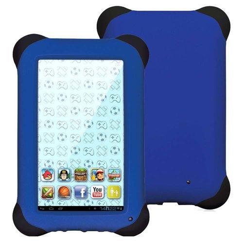 "Tablet Kid Pad Quad Core Dual Câmera Wi-Fi Tela Capacitiva, Multilaser, NB194, 8 GB, 7"", Azul"