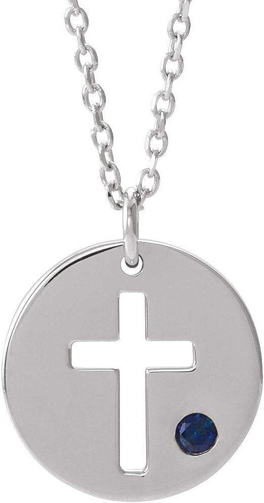 DiamondJewelryNY Religious Necklaces Pierced Cross Disc Necklace Pendant