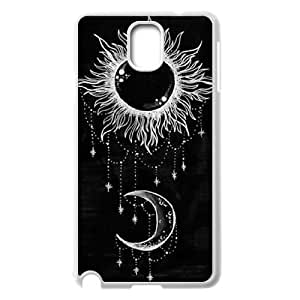 DIY Sun and Moon Phone Case, DIY Hard Back Shell Case for samsung galaxy note 3 n9000 with Sun and Moon (Pattern-7)