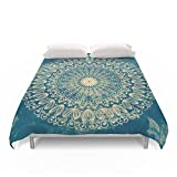 Society6 BLUE ORGANIC MANDALA Duvet Covers King: 104