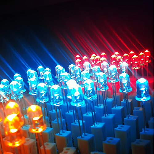 Novelty Place 100 Pcs 5mm Yellow LED Diode Lights - [Ultra Bright] Clear Transparent DC 2V 20mA Emitting Diodes LEDs Bulb - DIY Science Project Electronics Components Lighting Kit
