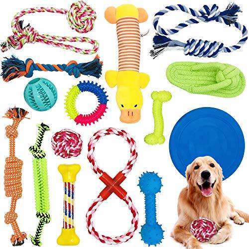 McNory Hundespielzeug Set,Hundeseile, interaktives Pet Rope Spielzeug, Hergestellt aus Natürlicher Baumwolle ungiftig…