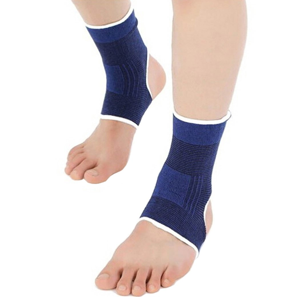 LAAT 1 Pair Elastic Ankle Braces Ankle Foot Feet Brace Ankle Support Protect Pads Gym Ankle Pain Pad for Any Sports