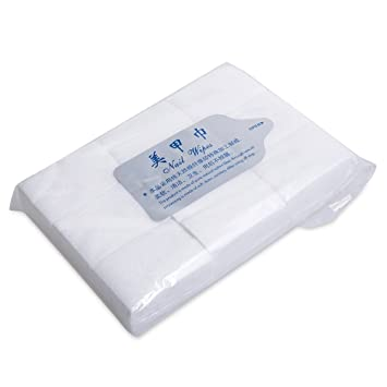 Takestop® Juego 400 Unidades Toallitas dispensador Celulosa algodón natural Maquillaje salvietta removedor de maquillaje Esmalte