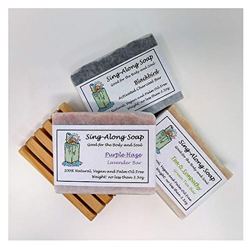 Soap Variety Pack with Soap Deck: All-Natural, Essential Oil Scented, Vegan (Deck Haze)