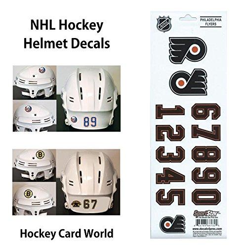 ((HCW) Philadelphia Flyers SportsStar NHL Hockey Helmet Decals Sticker)