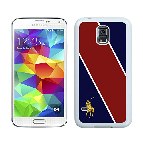 Samsung Galaxy S5 G9008V Lauren Ralph Lauren 19 White Cellphone Case Handmade and Luxury Design (Polo Ralph Online)