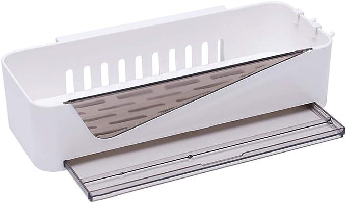 UANDM Ducha para baño Caddy Bandeja de baño Almacenamiento en estante Organizador combinado, cesta para la cocina Accesorios de baño Estante para baño sin perforaciones Caja de almacenamiento de múlti: Amazon.es: Hogar